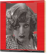 Film Homage Joan Crawford Louis Milestone Rain 1932 Collage Color Added 2010 Wood Print