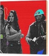 Film Homage Joe Namath C.c. And Company Golder Dam Near Tucson Arizona 1970-2009 Wood Print