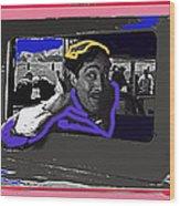 Film Homage Julian Rivero Burn 'em Up Barns 1934 Mascot Serial Collage Screen Capture 2008 Wood Print