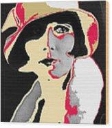 Film Homage Louise Brooks In Flapper Hat 1927-2013 Wood Print