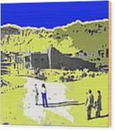 Film Homage Old Tucson Arizona In The Mid 1940's Wood Print