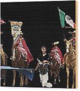 Film Homage Ride Vaquero 1953  2 Hispanic Riders  Rodeo Parade Tucson  Az 2002-2008 Wood Print