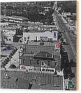 Film Homage Ted Degrazia Cine Plaza Theater  Blue W. Congress Tucson Arizona 1936-2008 Wood Print