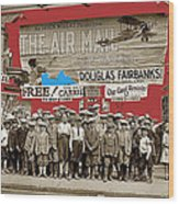 Film Homage The Air Mail  Leader Theater Washington D.c. 1925-2010 Wood Print