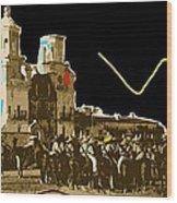Film Homage The Gay Desperado Set San Xavier Mission Tucson Arizona 1936-2008 Wood Print