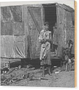 Film Homage The Grapes Of Wrath 1 1940 Family In Shack Perhaps Eloy Arizona 1940-2008 Wood Print