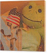 Film Homage The Muppet Movie 1979 Number 1 Froggie Colored Pencil American Flag Casa Grande Az 2004 Wood Print