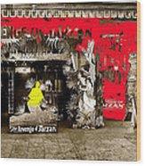Film Homage The Revenge Of Tarzan Criterion Theater Washington Dc. 1920-2010 Wood Print