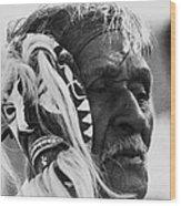 Film Homage The Yaqui 1916 Pascola Dancer New Pascua Arizona 1969-2008   Wood Print