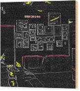 Film Homage Tora Tora Tora 1970 Uss Arizona Memorial U Of A 1985-2008 Wood Print