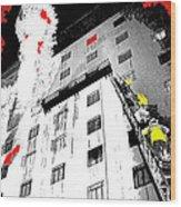 Film Noir Act Of Violence 1949 Pioneer Hotel Fire 1970 Jack Schaeffer Photo Color Added 2012 Wood Print