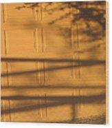 Film Noir Caught 2 1949 Shadow On Garage Door Casa Grande Arizona. 2004 Wood Print