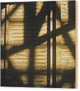 Film Noir Dick Powell Edward Dmytryk Cornered 1945 Building Interior Shadows Coolidge Arizona  2004 Wood Print