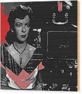 Film Noir Director Ida Lupino Color Added 2012 Wood Print
