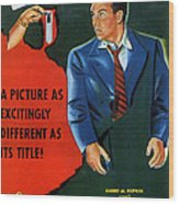 Film Noir Edmund O'brien D.o.a. 1949 Poster Color Added 2008 Wood Print