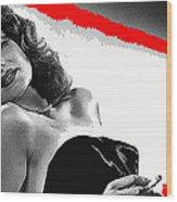 Film Noir Jean Louis Rita Hayworth Gilda 1946 Color Added 2012 Wood Print