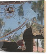 Film Noir Jim Thompson The Grifters 1990 Palm Trees Shattered Glass Casa Grande Arizona 2004 Wood Print