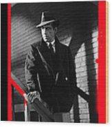 Film Noir John Huston Humphrey Bogart The Maltese Falcon 1941 Color Added 2012 Wood Print