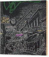 Film Noir Lee Marvin Sylvia Sidney Violent Saturday 1956  C.1885 Bisbee Az Drawing Color Added 2008 Wood Print