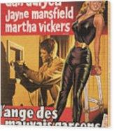 Film Noir Poster  The Burglar Jane Mansfield Wood Print
