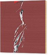 Film Noir Robert Mitchum In Trench Coat At Rko Radio 2 C.1947 Color Added 2013 Wood Print