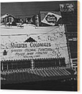 Film Noir Robert Mitchum Where Danger Lives 1950 1 Border Town Nogales Sonora Mexico Wood Print