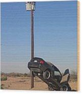 Film Noir Walter Hill Bruce Dern Ryan O'neal The Driver 1978 Car  Telephone Wire Arizona City Az Wood Print