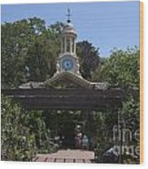Filoli Clock Tower Garden Shop Wood Print