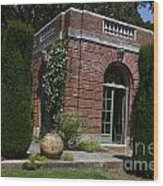 Filoli Garden House Wood Print
