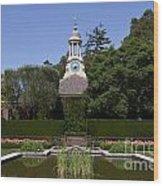 Filoli Garden With Pond Wood Print