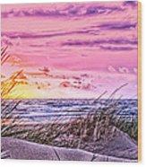 Filtered Beach Wood Print