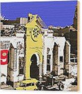 Final Days Of San Agustine Cathedral 1863-1936 Circus Poster Tucson Arizona 1936-2013 Wood Print