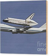 Final Flight Of The Endeavour Wood Print