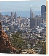 Financial District From Corona Heights Wood Print