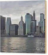 Financial District Skyline Wood Print