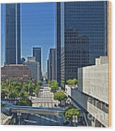 Financial District Skyscrapers California Plaza Wood Print