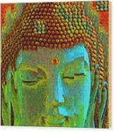 Finding Buddha - Meditation Art By Sharon Cummings Wood Print by Sharon Cummings