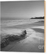 Finding Serenity Bw Wood Print by Michael Ver Sprill