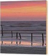 Fine Art Sunset Somerset England Wood Print