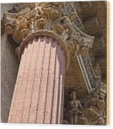 Fine Arts Palace Pillar Detail Wood Print