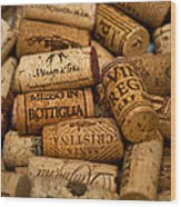 Fine Wine Corks Wood Print