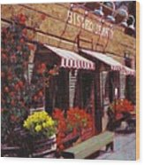 Fine Wine For Launch Italian Restraunt Bistro Jeanty Wood Print