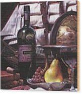 Fine Wine For New Voyage Wood Print