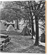Finger Lakes Camping Wood Print