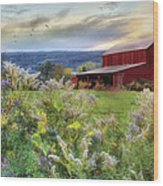 Finger Lakes Farm Wood Print