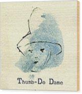 Finger Prints 1998 Forensic Whimsy Thumb-do Dame Wood Print