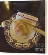 Finger Sandwiches For Traditional Afternoon Tea Wood Print