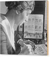 Fingerprint Analysis, 1918 Wood Print