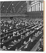 Fingerprinting At The Federal Armory 1945 Wood Print