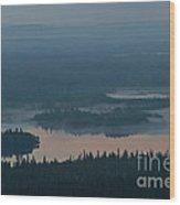 Finish Lakeland In The Mist Wood Print